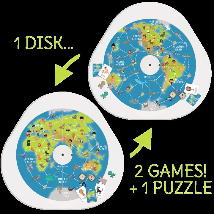 DISKcover Geografia 2 Giochi + Puzzle - MUtable